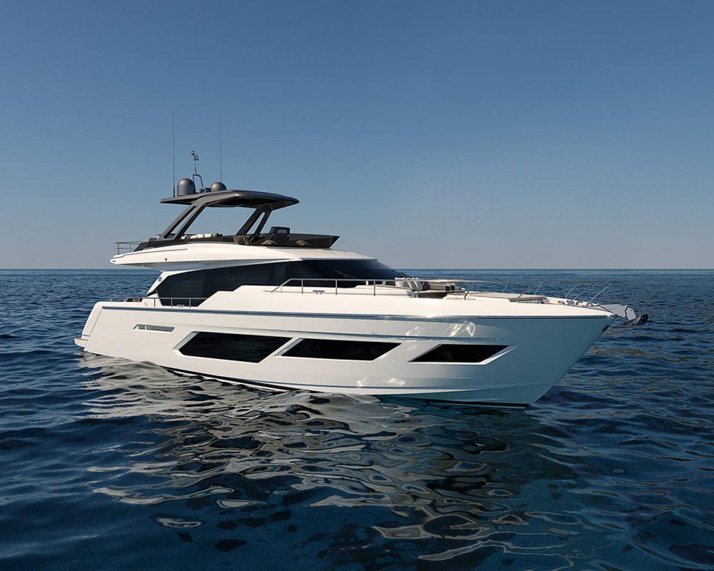 Ferretti Group New ICON  FERRTTI YACHT NEW 720,Riva90 ARGO and Pershing8X